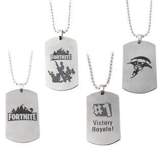 Кулон фортнайт (Fortnite) жетон в ассортименте серебряный