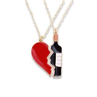 Кулон Сердце и Вино двойной