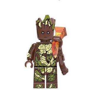 Фигурка Lepin Грут с громобоем (Groot with a thunderbolt)