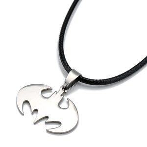 Кулон Бэтмен лого серебряный