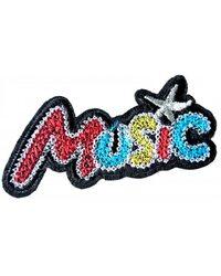 Нашивка Music 8 см.