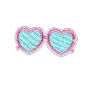 Нашивка Розовые маленькие очки