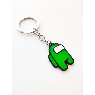 Брелок Среди нас (Among Us) Зеленый металлический