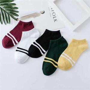 Носки с двумя полосками низкие в ассортименте