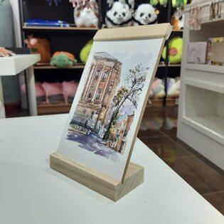 Подставка для фотографий 10х15 деревянная