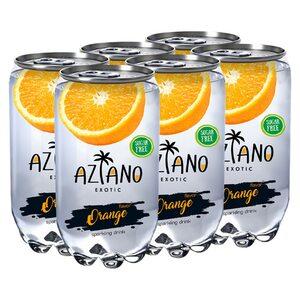 Газированный напиток Aziano со вкусом апельсина 350 мл.